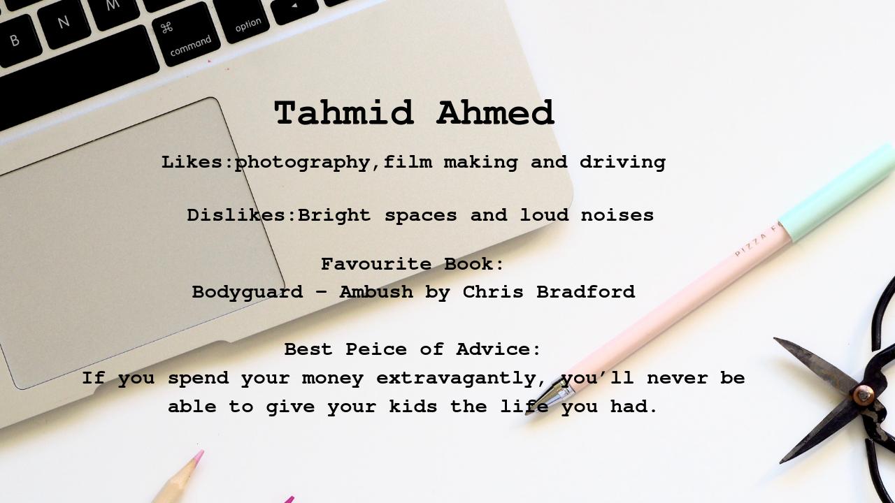 Tahmid Profile
