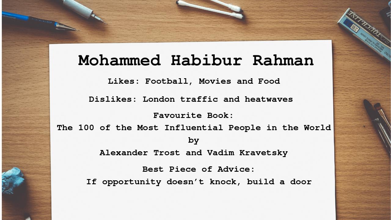 Mohammed Profile
