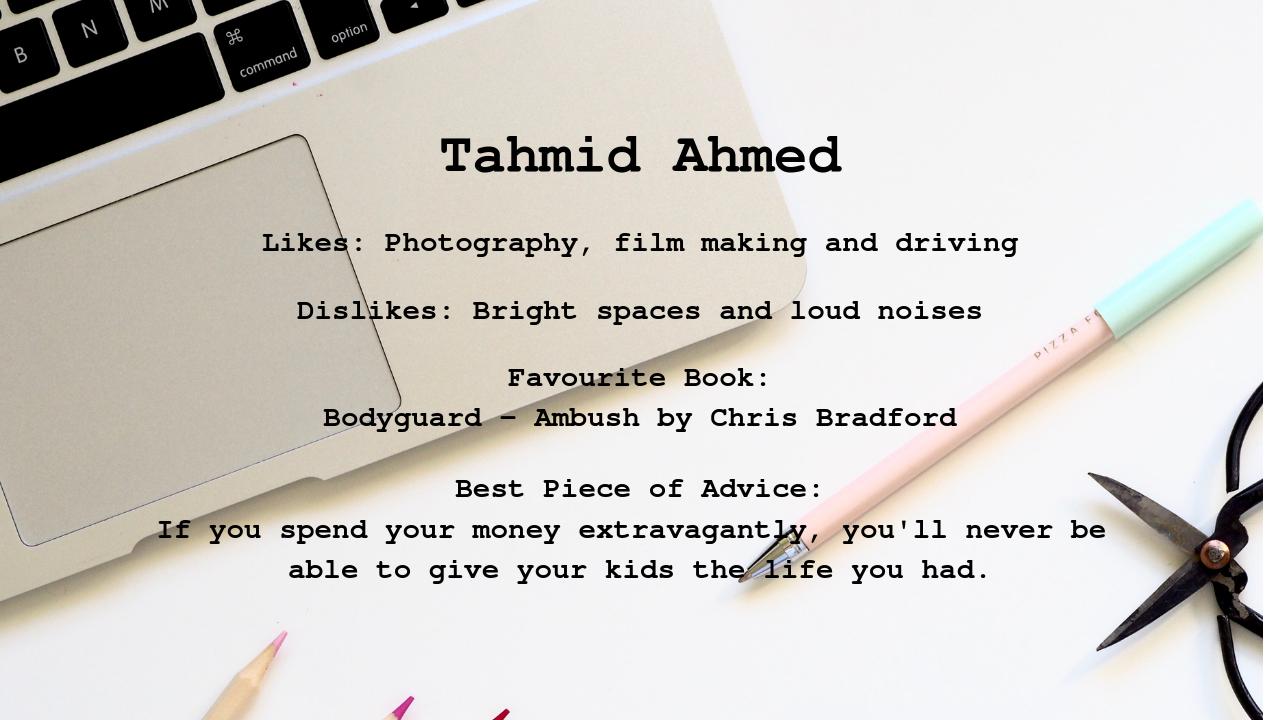 Tahmid's profile